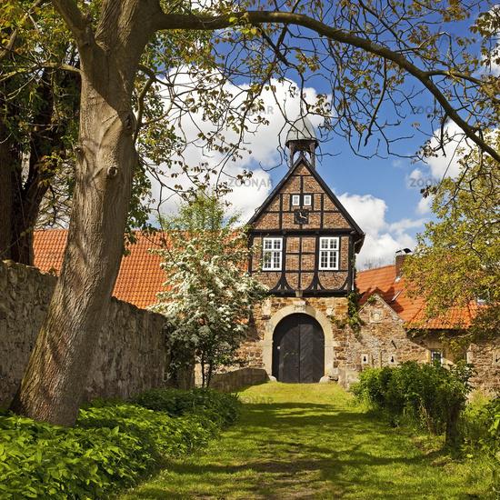 Gatehouse from 1672, Stockhausen Estate, Luebbecke, East Westphalia, Germany, Europe