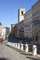 Torre Civica, clock tower, Piazza del Plebiscito, square, Ancona, Italy, Europe