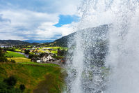 Steinsdalsfossen -  gorgeous waterfall in Norway