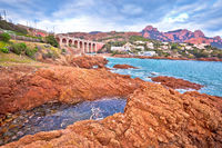 Antheor, Saint Raphael. Franch riviera scenic coastline view,
