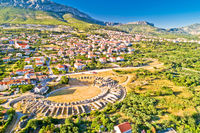 Ancient Salona or Solin amphitheater aerial view