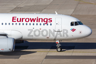 Eurowings Airbus A320 airplane Dusseldorf airport
