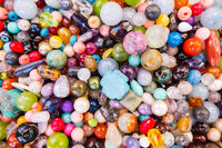 Joyful colors of jewelery beads.