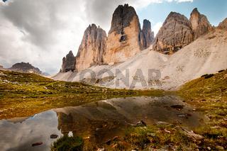 Dolomites Alps, Three Merlons, Drei Zinnen, South Tyrol, Italy
