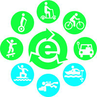 electric drives icon set round.eps