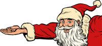 Santa Claus hand presents. Christmas and New year