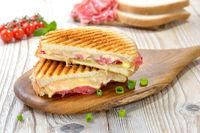 Panini with salami