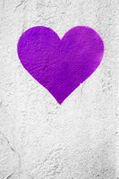 Purple urban Heart