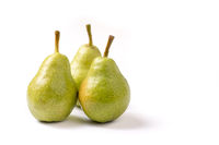 Group of Organic ripe pears with copyspace