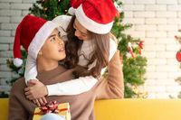 Couple christmas celebration