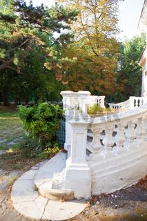 The old staircase. Old sanatorium them. Chkalov in Odessa, Ukraine.