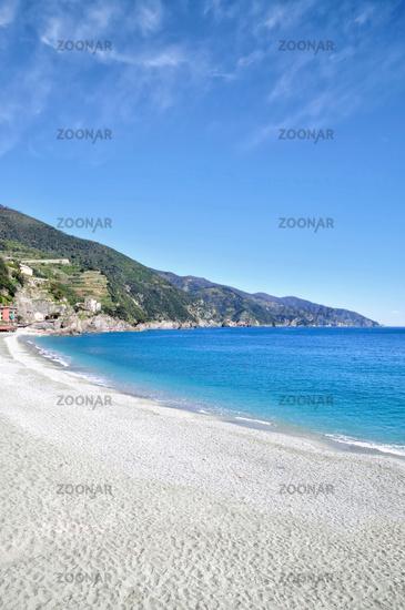 Monterosso al Mare in Cinque Terre at italian Riviera,Liguria,mediterranean Sea,Italy