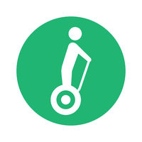 self balancing scooter pictogram round