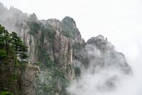 Yellow Mountains.Mount Huangshan.A mountain range in southern Anhui province in eastern China.