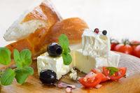 Greek feta cheese snack
