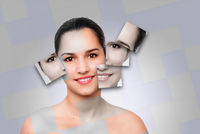 Beauty woman face skincare concept