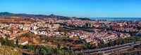 Panoramic view of Malaga city, Spain.
