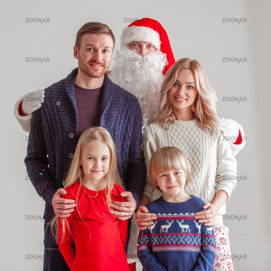 Family and Santa Claus