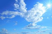 blue sky sun clouds texture