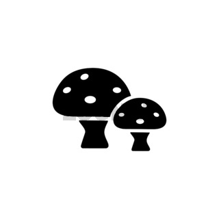 Mushrooms. Isolated icon. Nature and fall vector illustration