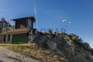 Small hut on the Mount Tegelberg from below