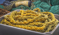 Fishing nets in the harbour of Kappeln - Schleswig-Holstein