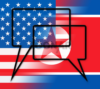 North Korean Peace Talks With America 3d Illustration