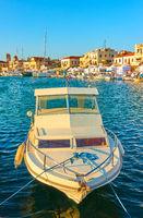 Fishing boat in the port of Aegina