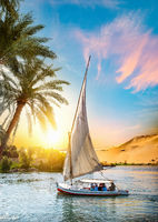 Nile River and Sailboat