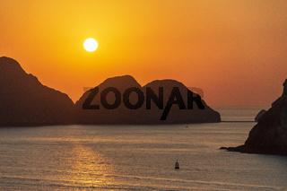 Sunrise off the coast of Oman.