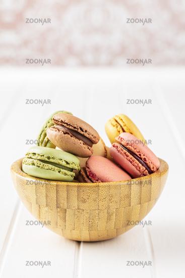 Sweet colorful macarons