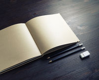 Booklet, pencils, eraser