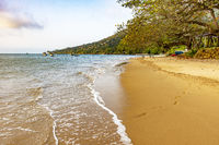 Ilhabela Island Beach one of the main tourist spots of the coast of Sao Paulo