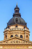 Dome of St. Stephen's Basilica in Budapest