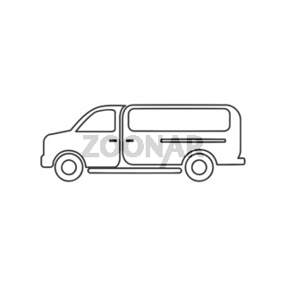 Work Van Icon Vector