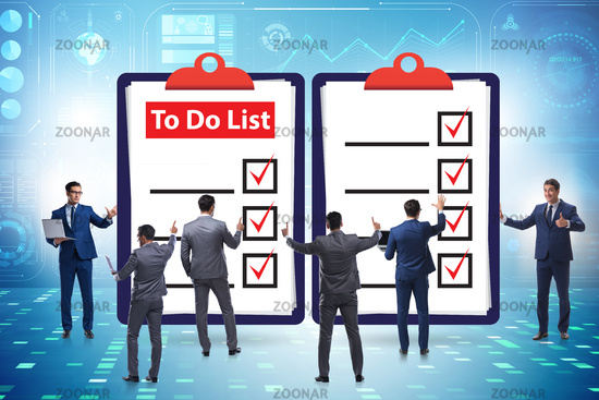 Concept of to do list with businessman