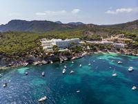 Cala Fornells, coast and natural harbor, Peguera, Mallorca Spain