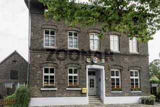 Gebäude im Ortskern von Krudenburg, ehemaliges Treidlerdorf an der Lippe