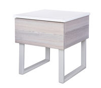 Modern gray bedside table
