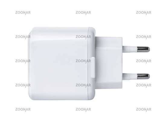 Side view of blank wall charger plug