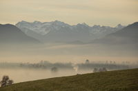 cloudy mountain landscape in bavaria