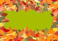 Rahmen aus vielen bunten Herbstblättern