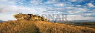 Massive Rock on a hill at Oggau Burgenland