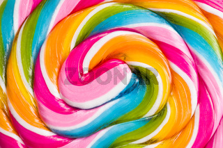 Detail of colorful lollipop.