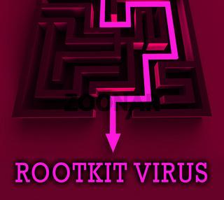 Rootkit Virus Cyber Criminal Spyware 3d Rendering