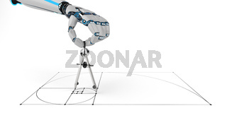 Humanoid Robot Compass Golden Ratio