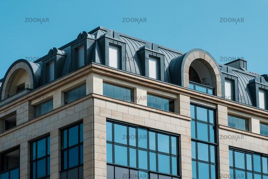 building exterior - house facade real estate concept