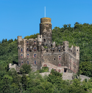 The Maus Castle in the Middle Rhine Valley near Sankt Goarshausen, Germany