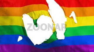 Ragged Gay rainbow flag