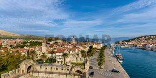 Panoramic view of Trogir from Kamerlengo Castle
